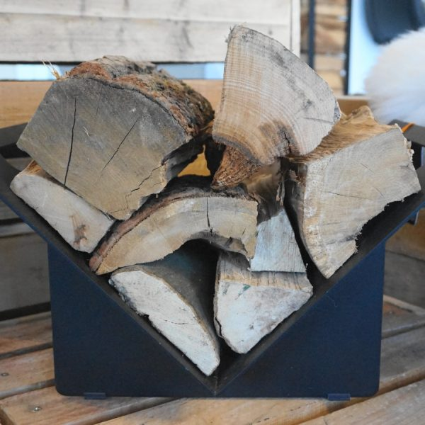 Stovax Black Log Holder - Triangular